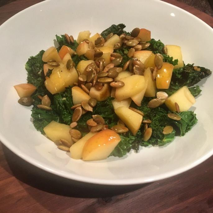 Warm Kale and Apple Salad